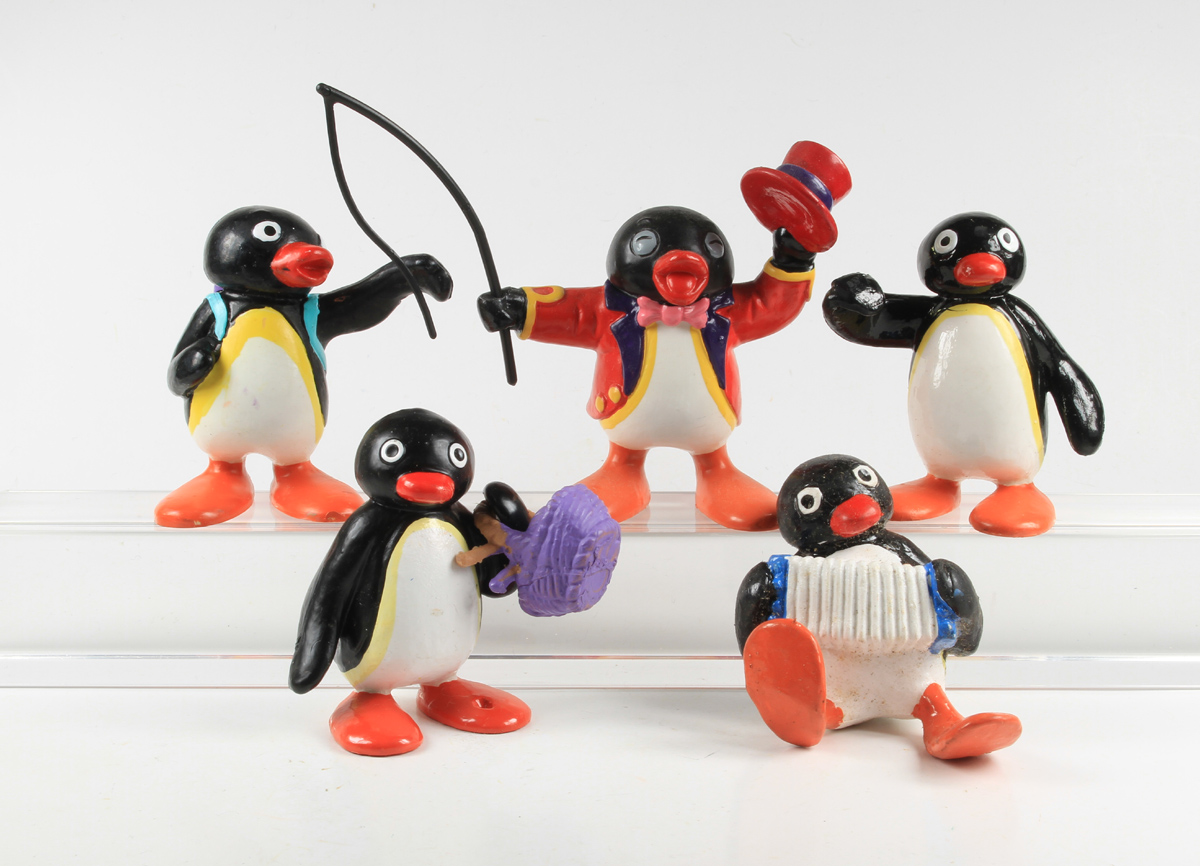 Pingu 5 x pingouin personnages bully bullyland 1991 ebay - Pingu le pingouin ...